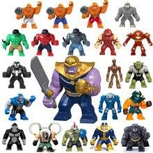 цена на Figure Batman Marveling DC Building Blocks Bricks AvengersING Super Hero Hulk not Compatible LegoINGLY Duplo