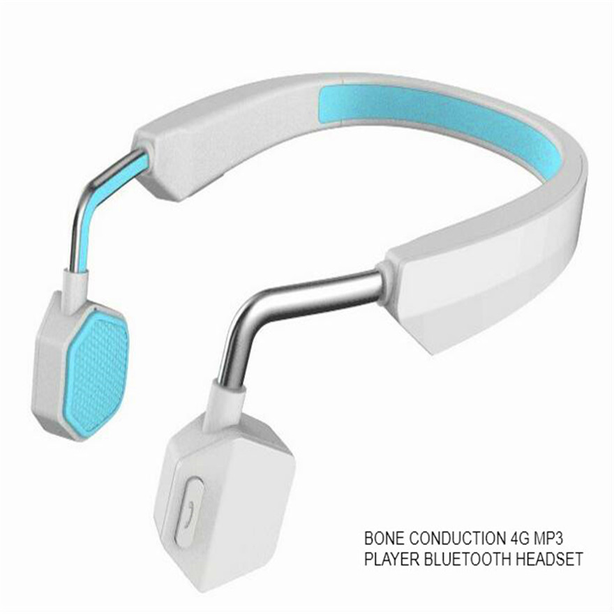 Open Ear Bluetooth Headphones Wireless 4G Bone Conduction HD Stereo Headset MP3 Player Hands Free Ear Phones mix8 open ear bone conduction bluetooth v4 1 headset outdoor sports wireless bluetooth headset head mounted headphones