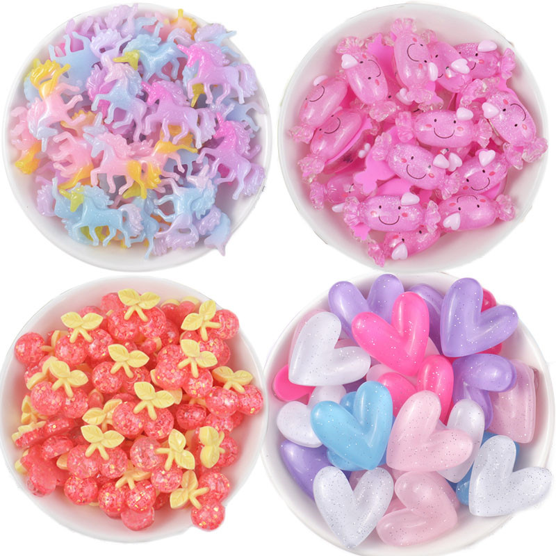 Slime Clay Sprinkles Decoration For Slime Filler Diy Candy Fake Cake Dessert Mud Particles  Toys 20pcs