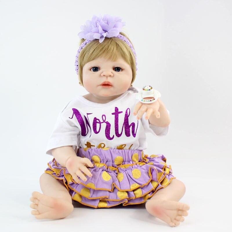 Реалистичные куклы Новорожденные NPKCOLLECTION, полностью Силиконовая Водонепроницаемая Кукла-младенец, принцесса, для новорожденных девочек, 22 ...