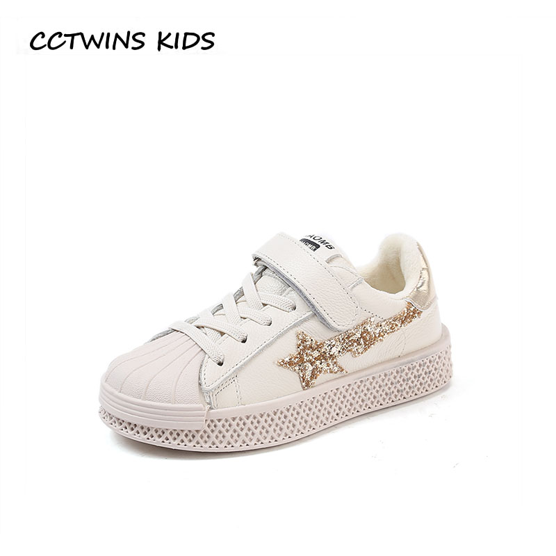 купить CCTWINS KIDS 2018 Winter Children Fashion Glitter Casual Shoe Baby Girl Sport Sneaker Boy Genuine Leather Star Trainer FSL2267 по цене 1827 рублей