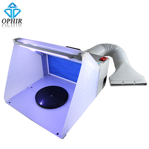 Image 5 - OPHIR 25W LED Light Airbrush Spray Booth Exhaust Filter Extractor Set for Model Hobby Crafts Paint Airbrush Workbench _AC076LED