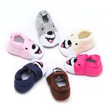 2019 Newborn Toddler Baby Girls Boys Cartton Slip-OnIndoor Solid Soft Sole Casual Fashion Shoes D#1(China)