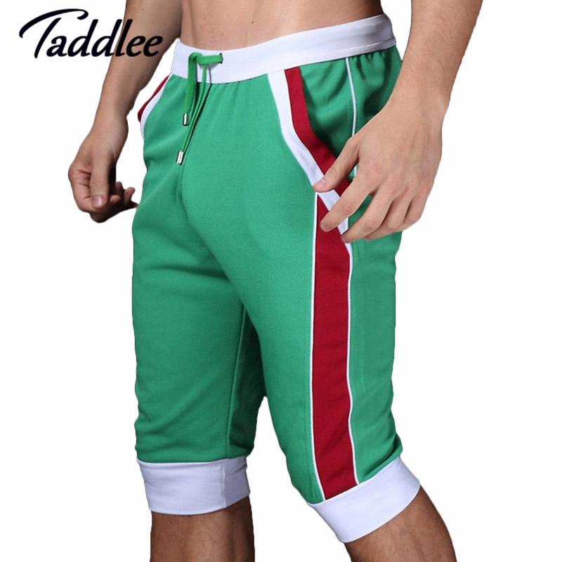 Taddlee brand men shorts cotton beach boxer sexy Man wear baseball Man capri designer Man shorts 2017 gay Trunks Fashion Shorts