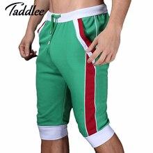 Taddlee brand men shorts cotton beach boxer sexy Man wear baseball Man capri designer Man shorts 2017 gay Trunks Fashion Shorts
