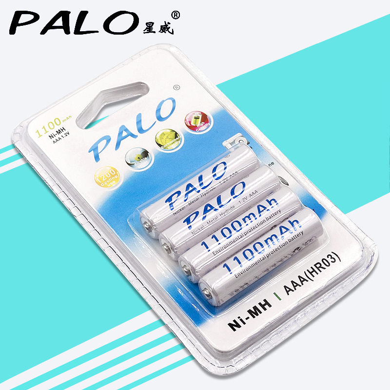 Palo 1100mAh 1.2v AAA Rechargeable Battery For LED Light Toy Placement Battery And Camera MP3 Mp4 Microphone dg placement using ga and pso