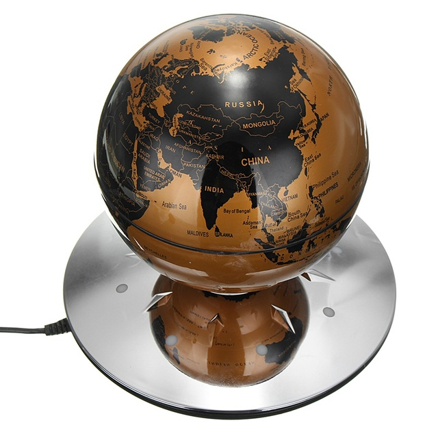 Kiwarm new magnetic levitation maglev levitating floating globe kiwarm new magnetic levitation maglev levitating floating globe world map with 8 led ornaments home decor gumiabroncs Gallery