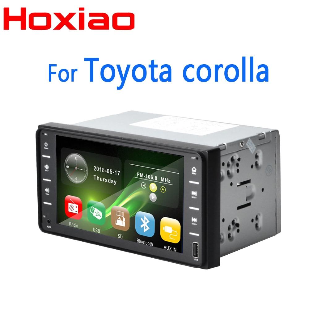 For TOYOTA COROLLA Camry Land Cruiser HILUX PRADO RAV4 Carradio 7 screen gps BT USB AUX