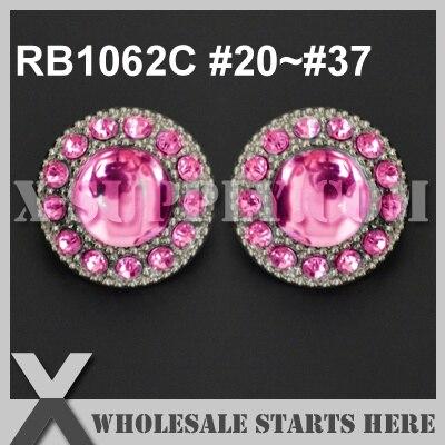 Color  RB1062C  20~ 37   Free Shipping Single Color Plastic Rhinestone  Button 35e1e82509a2