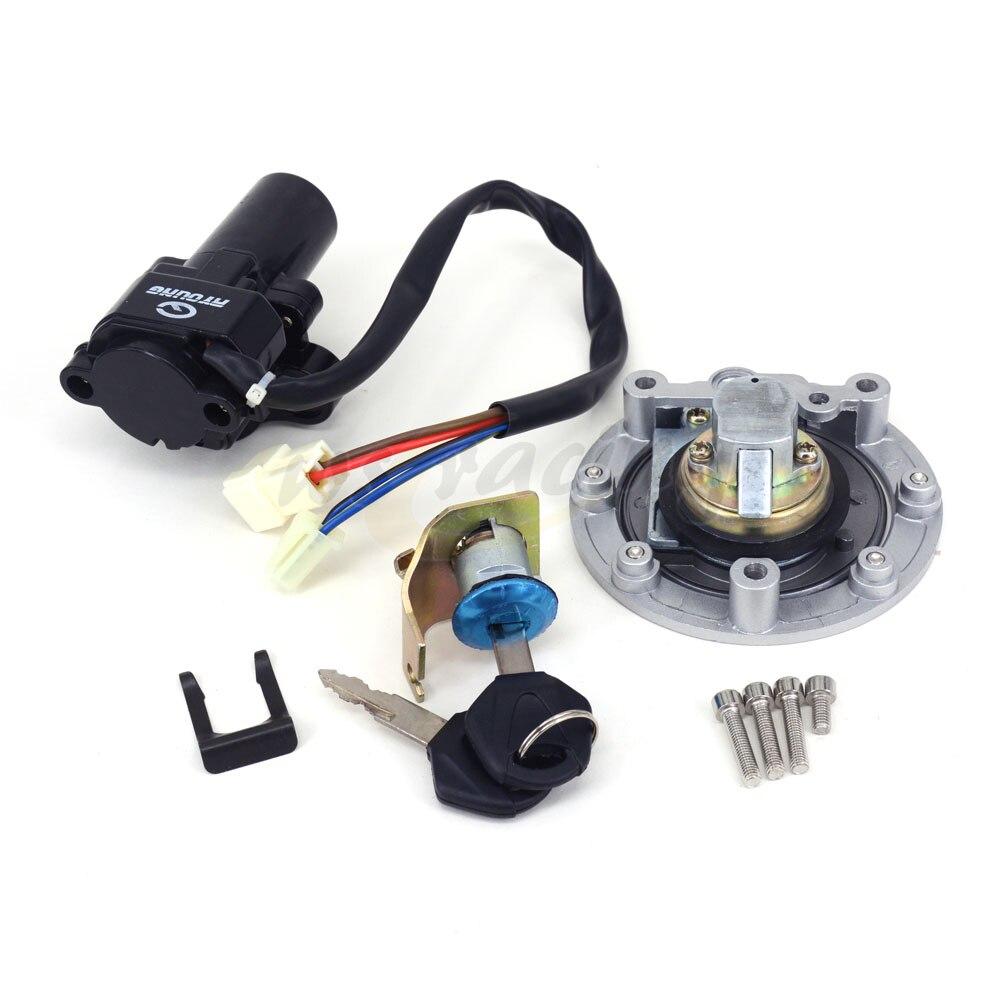 Motorcycle Lockset Ignition Key Switch Fuel Gas Cap Lock Key For YAMAHA YZF R1 04-12 R6 06-11 FJR1300 01-10 FZ6 FZ6S FZ6N 04-10