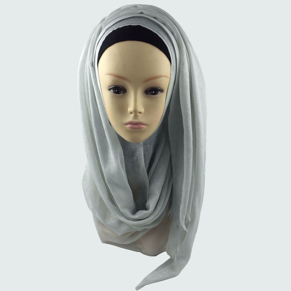 Мусульманский хиджаб мерцание шарф хиджабы блестящий шарфы мерцающий шаль, можете выбрать цвет