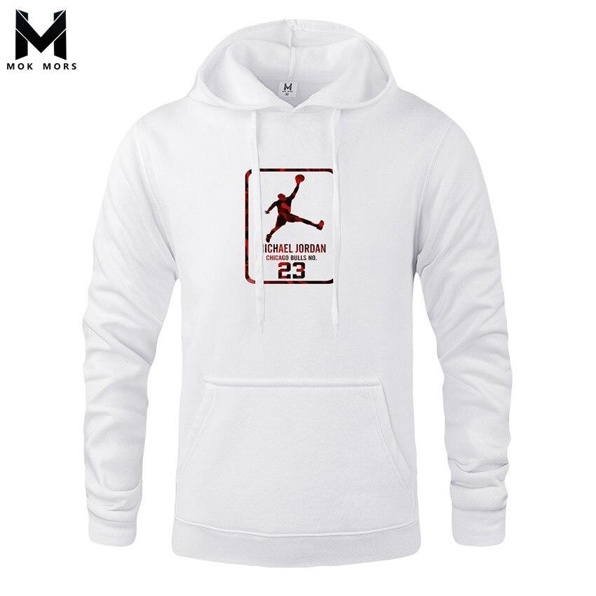 Hoodies Men Sportswear Sweatshirts High-Street Cotton Long-Sleeved Fashion Print Jogger