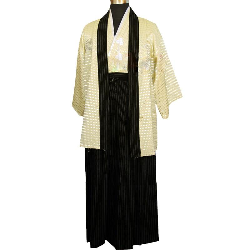 Siyah Japon Erkek Kimono Çocuk Savaşçı Geleneksel Kılıçlı - Ulusal Kıyafetler - Fotoğraf 6