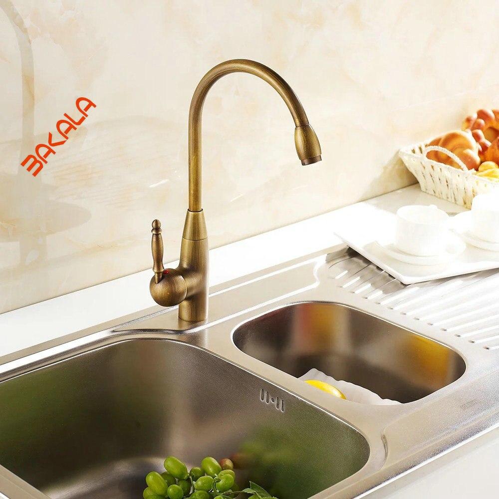 bakala bathroom kitchen basin faucet antique bronze finish b
