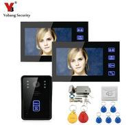 Freeship By DHL 7 Inch Video Door Phone Door Intercom Wired Video Intercom With Electric Strike