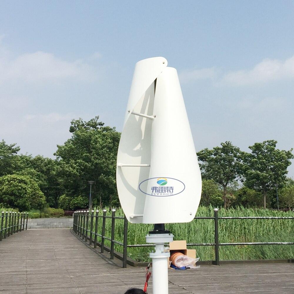 1.3 m começou a subir verde/branco/orange cor maglev gerador de energia eólica 600 w 12/24 v vertical turbina eólica de eixo com 600 w MPPT controlador