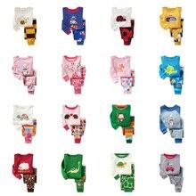 Pyjama pour enfant pour garçon et fille, ensemble pour la nuit avec pantalon long et haut à manches longues, imprimés animaux, matière coton