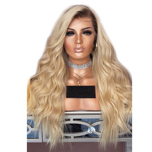 Colored Blonde Human Hair Wigs Ombre Lace Front Wig 13×6 Lace Front Wigs Brazilian Wavy T4/613 Lace Frontal Wig Aimoonsa Remy