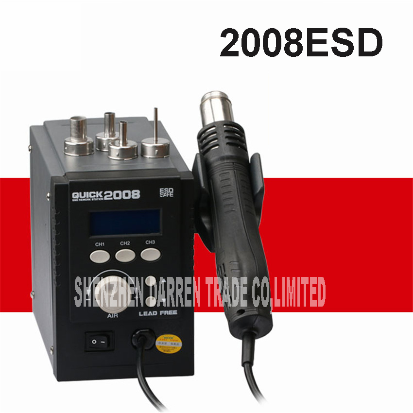 700W Hot Air Gun 2008ESD Soldering Station LED Digital Desoldering Station Iron Tool Solder Welding 220V/110V  цены