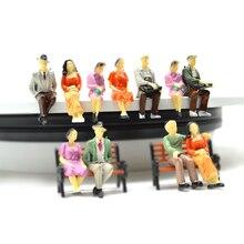 1/30 escala modelo arquitetura sentado figura brinquedos construção em miniatura todas as pessoas sentadas para diorama rua cena fazendo