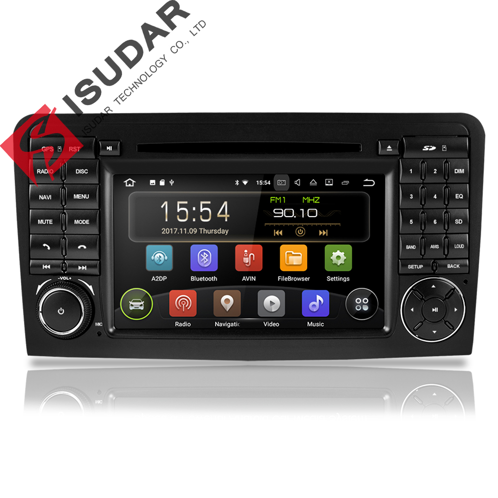 Isudar 2 Din Car Multimedia player GPS Android 9 DVD Player For <font><b>Mercedes</b></font>/Benz/<font><b>ML</b></font>/GL CLASS W164 ML350 ML500 GL320 Radio DSP DVR image