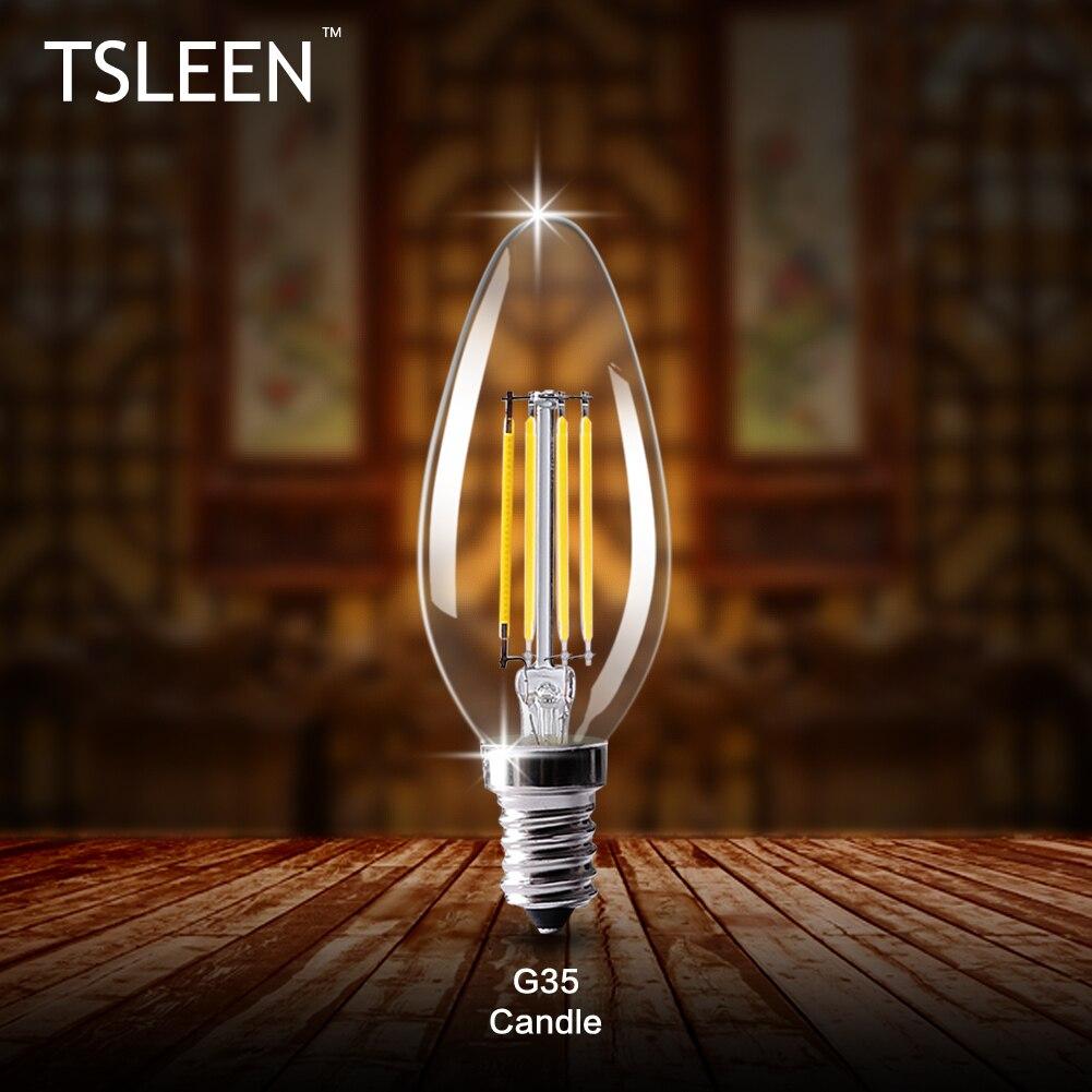 tsleen e14 e12 lamp led bulb 220v 110v led candle bulb energy saving lamp light bulb. Black Bedroom Furniture Sets. Home Design Ideas