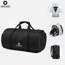 OZUKO Multifunction Men Travel Bags Large Capacity Waterproof Duffle Bag Trip Suit Storage Male Hand Luggage Bag with Shoe Pouch
