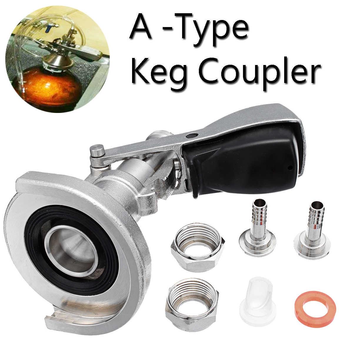 A-type Keg Coupler Draft Beer Dispenser For Home Brew Connectors Coupler Head For Home brew Wine Beer Dispenser