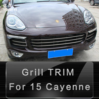 High Quality Stainless Steel Front Center Grill Cover Trim For 15 Porsche Cayenne Car Styling