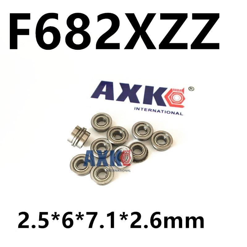 Free Shipping  high quality 100 PCS F682XZZ  (2.5*6*7.1*2.6mm )Miniature Flanged Ball Bearings
