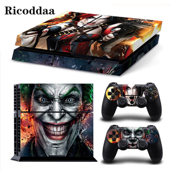 JokerMan Game Stickers For PS4 Stickers Console Skin PS4 Controller Skins Cover For PlayStation4 Game Accessories