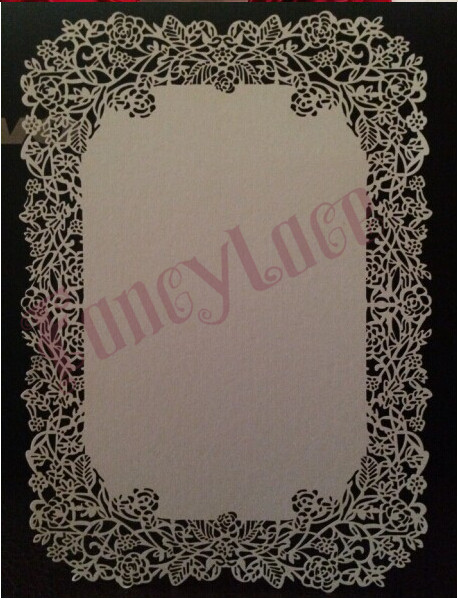 17x12cm White Ivory Laser Cut Rose Table Place Card diy Wedding party menu card 20 pcs lot 20 colors can be chose Free Shipping in Cards Invitations from Home Garden