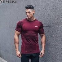 YEMEKE 2017 Brand Men S T Shirt Short Sleeve T Shirt Spring Summer Casual Men S