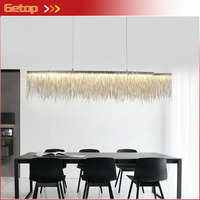 Aluminum Tassel Rectangular Pendant Light Living Room Dining Room Home Modern Luxury Simple European Style Led