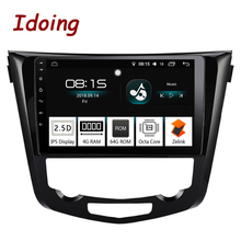 Idoing 10,2 «2.5D автомобиль Android 8,0 Радио мультимедийный плеер подходит Nissan X-Trail Qashqai 2014-2017 4 г + 64 г Octa Core gps навигация