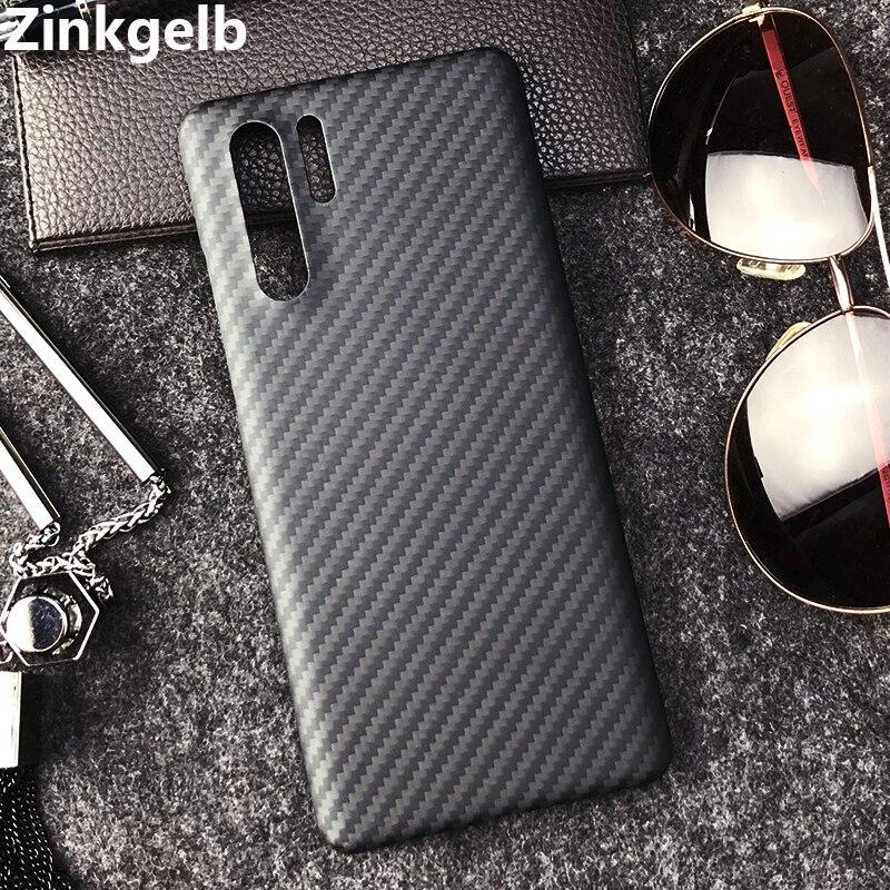 Pour Huawei P30 Pro housse de protection de luxe mince en Fiber de carbone dur antichoc armure coque de téléphone arrière pour P30 étui Hoesje Funda