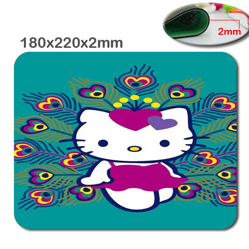 180*220*2mm/290*250*2mmCute Cat Mouse Mat Custom High Quality Non- Slip Durable Computer And Laptop Gaming Large Mouse Pad