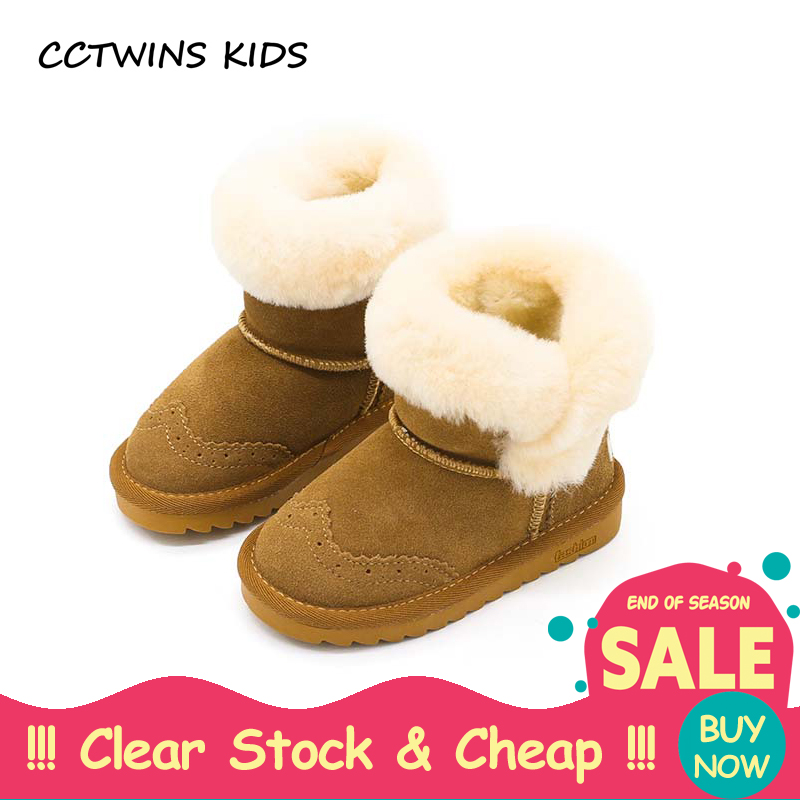 CCTWINS KIDS 2017 Boy Fashion Pink Genuine Leather Shoe Baby Girl Brand Warn Flat Toddle ...