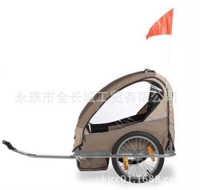 Taga vélo bébé chariot chariot remorques bébé vélo jumeau survêtement kinder wagen double poussette derrière vélo pet remorques poussette