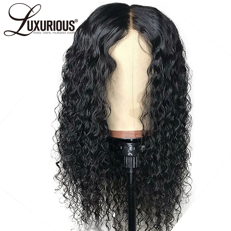 Curly 360 Lace Frontal Wig With Baby Hair Natural Black Peruvian Remy Hair 5inch Long Parting Space Lace Front Human Hair Wigs(China)