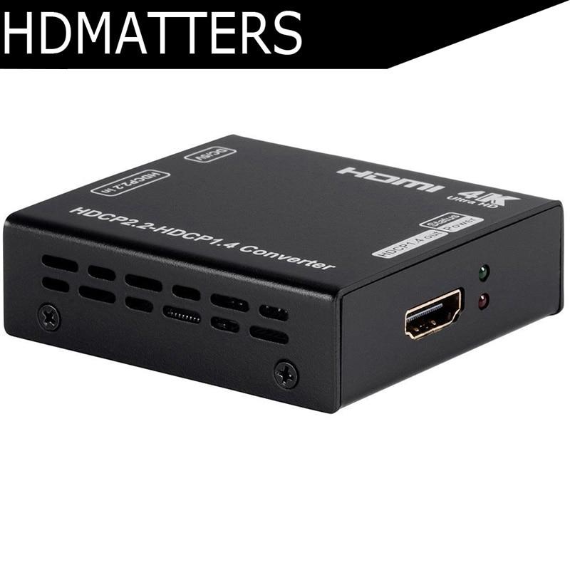 HDCP Converter UHD HDMI 2 0 HDCP 2 2 to HDCP 1 4 converter with power