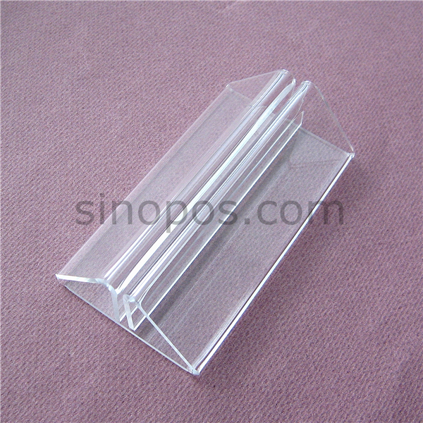 Acrylic Message Holder Stand 105mm, plastic clear foot display sign tag poster menu card table POP advertising rack base stand