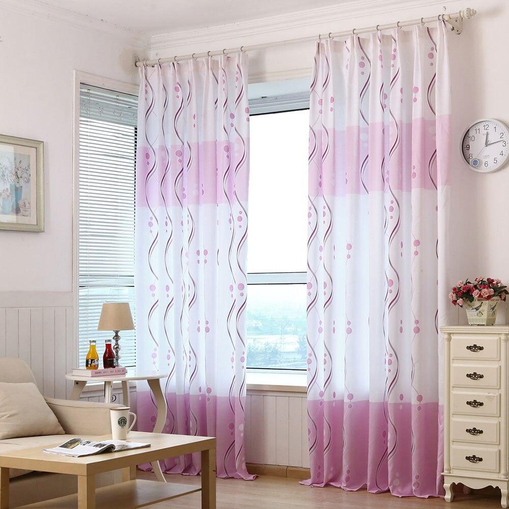 Sheer plum curtains - Fresh Purple Print Sheer Window Curtains For Living Room Bedroom
