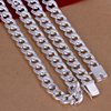 Fashion Men 925 Sterling Silver Chains Necklaces High Quality Male 925 Sterling Silver Jewelry 10mm 20