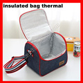 (2pcs/lot) 9 sizes available denim insulated cooler thermal lunch bag