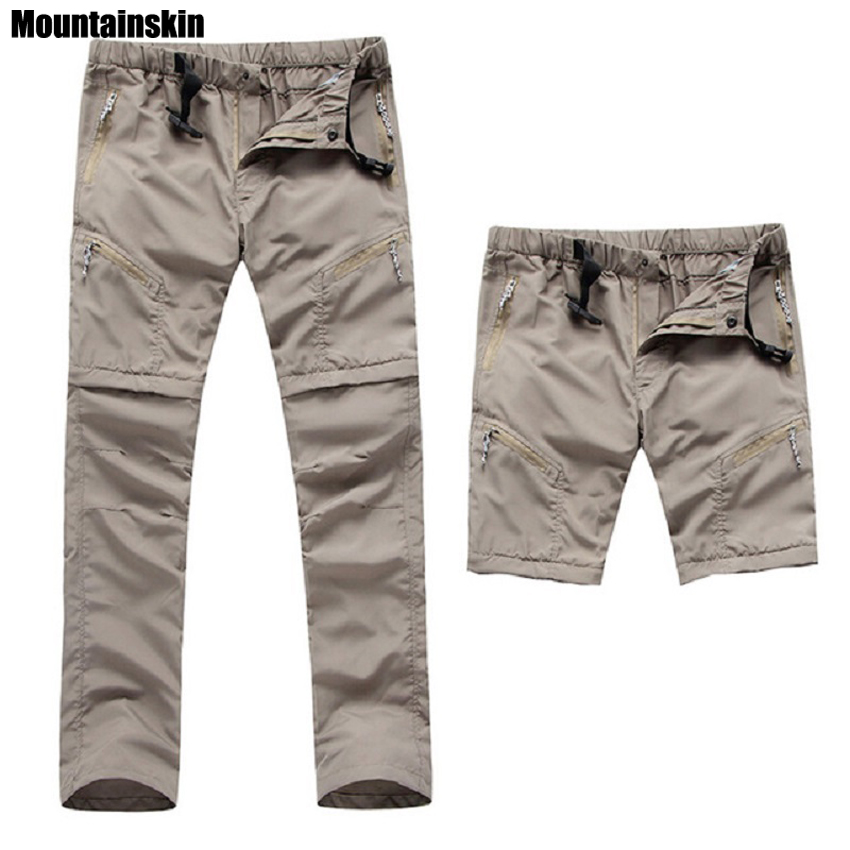 2017 New Mens Quick Dry Removable Hiking Pants Outdoor Sport Summer Breathable Thousers Camping Trekking Fishing Shorts VA035