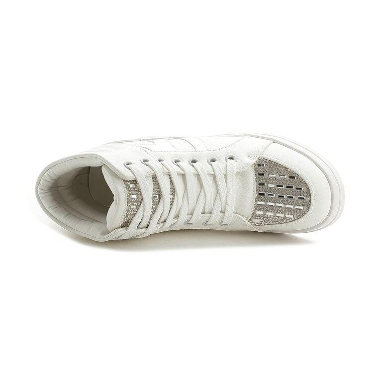 Croissante Chaussures Black Qualité Strass Étoiles 7 Plate Hauteur Coins Femmes Casual Top forme white Unique Blanc Cm mn0vNw8