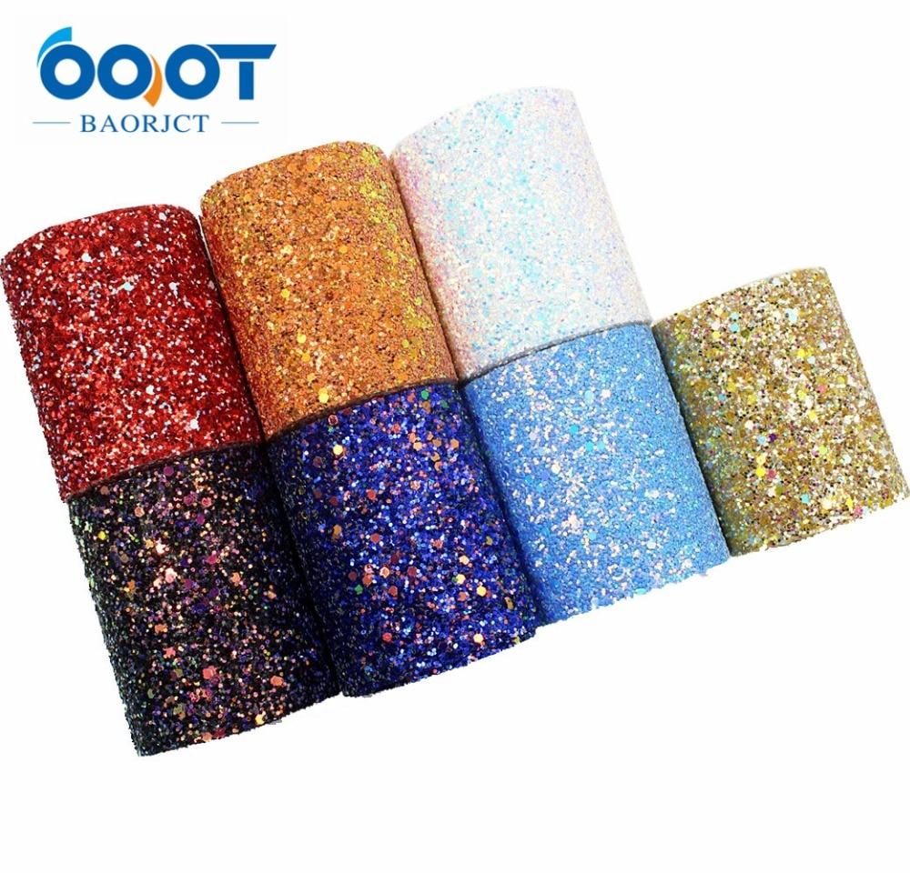 G-18930-8 2 Yard/lot 3''75mm New Shiny Chunky Glitter Ribbon Blingbling Soft Fabric Gift Package Handmade Material DIY Hairbow