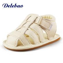 Delebao 2018 летние новые стильные детские сандалии без секса