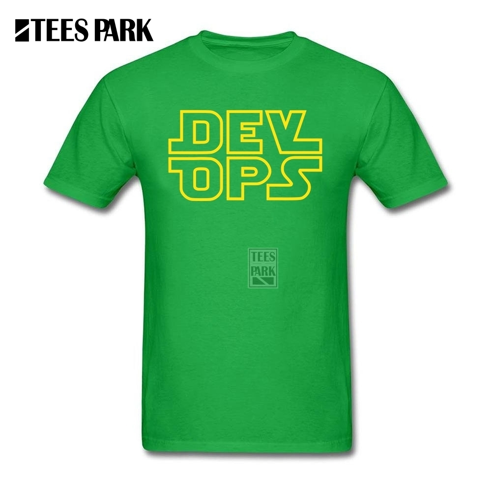 Personal Tailor T Shirt Fun Tee Shirts DevOps Star Wars Style Teenage Pre-Cotton Short Sleeve Shirt Hot Sale Youth Online Shirts